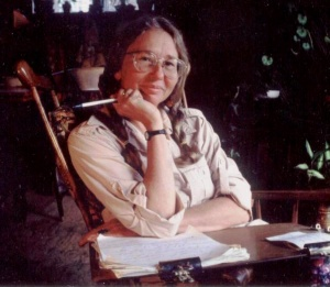 The anthropologist at work on revising a doctoral dissertation into a book, late 80s.