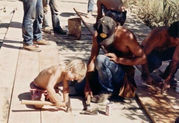kid hammering iph