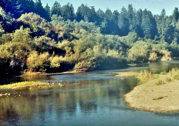Landscape of a river in Shum