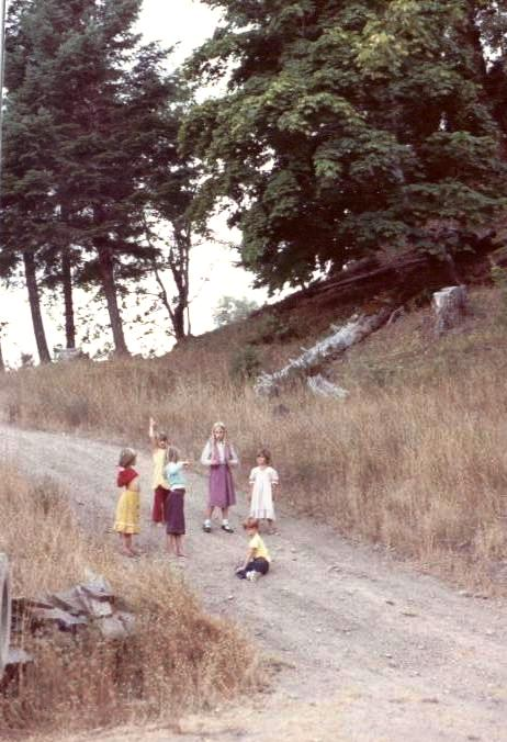 Children learn about nature just walking outside their homes